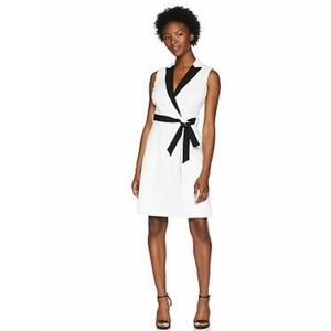 Shelby Palmer Contrast Lapel Shirt Dress Plus Size